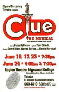 Clue: The Musical's Poster