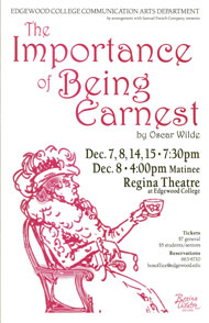 The Importance of Being Earnest's Poster