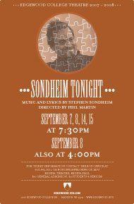 Sondheim Tonight's Poster