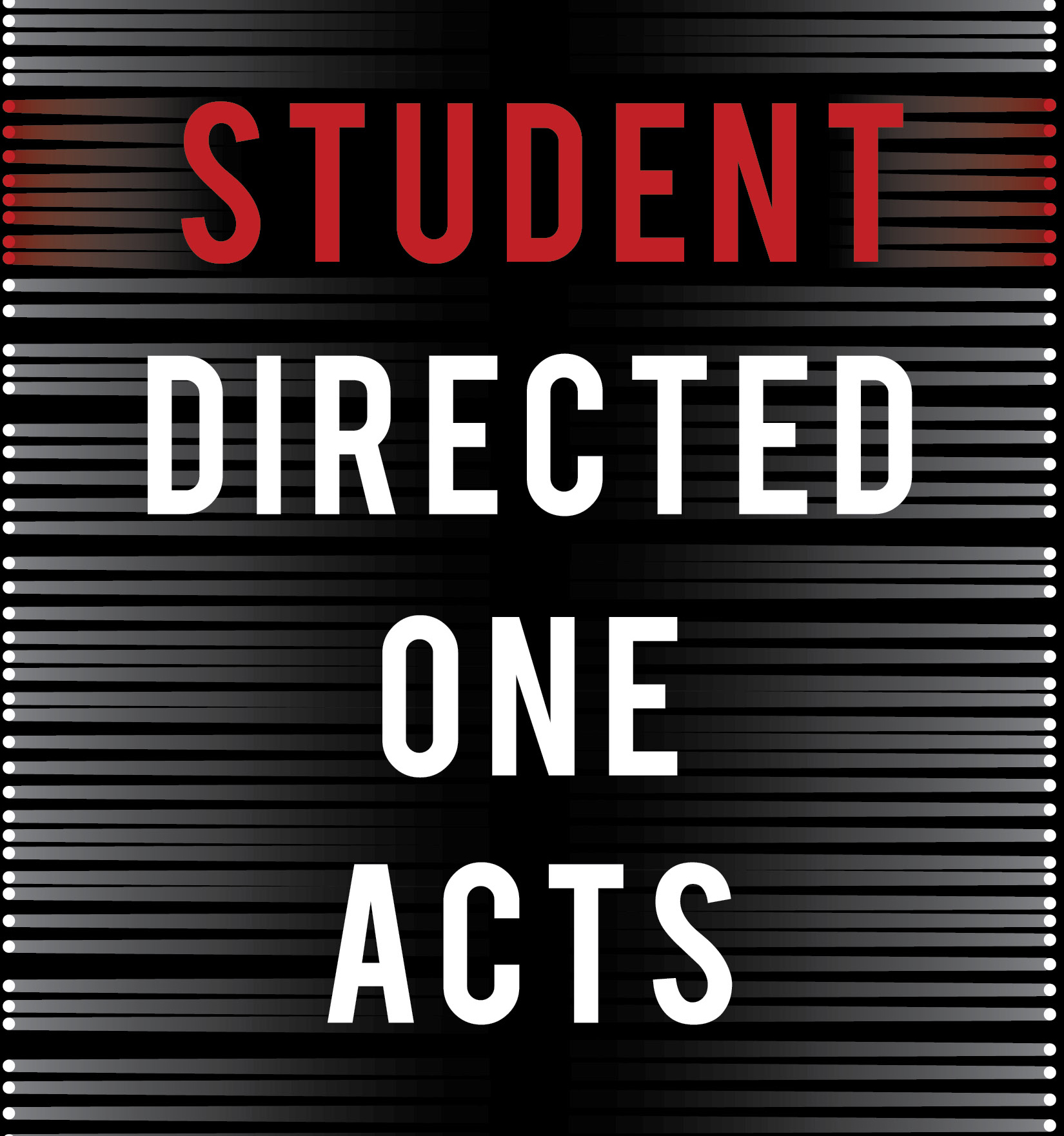 Student Directed One Act Plays Poster